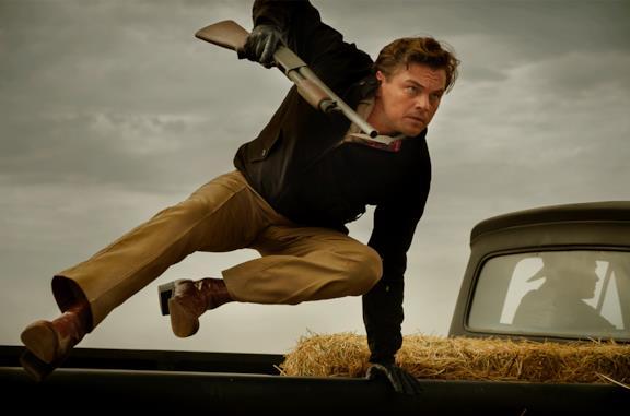 Leonardo DiCaprio in una scena di C'era una volta a Hollywood