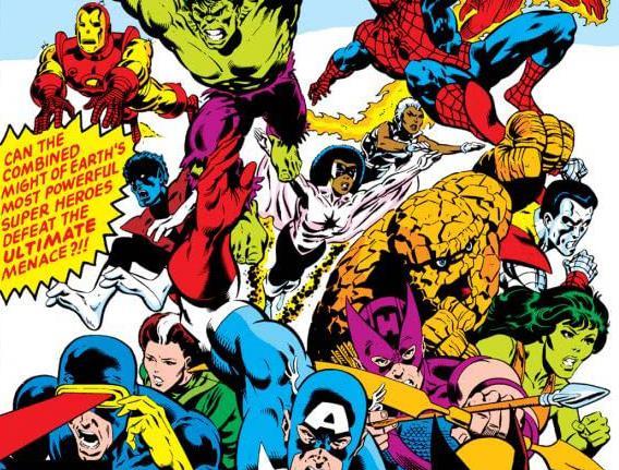 Dettaglio della cover di Marvel Super Heroes Secret Wars #1