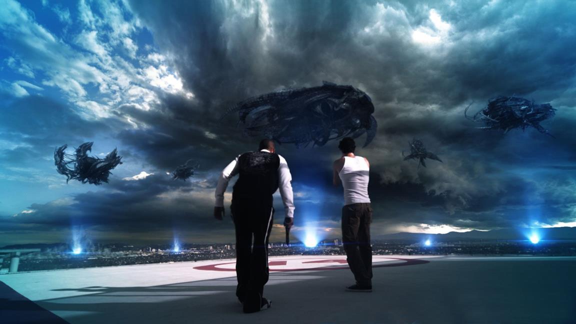 Una scena tratta da Skyline