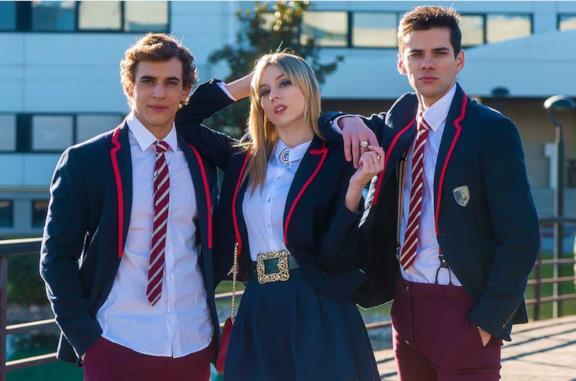 Il cast della serie Élite