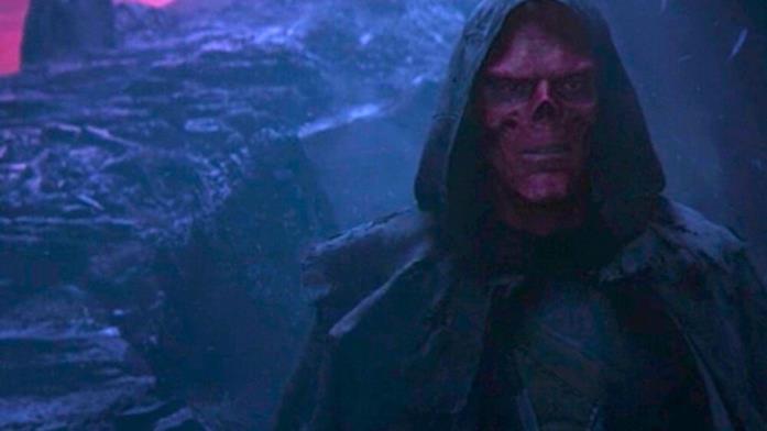 Teschio Rosso su Vormir in una scena di Infinity War