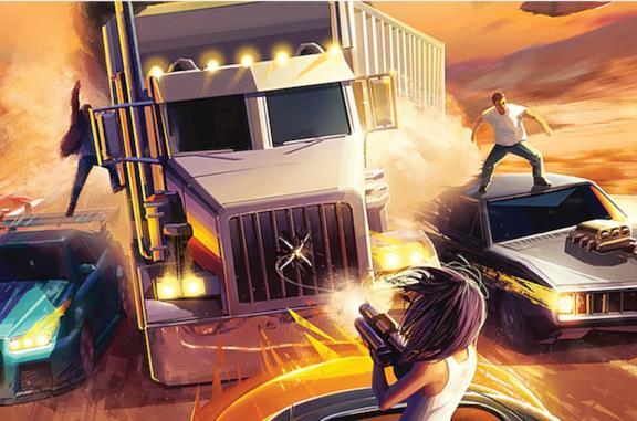 L'immagine sulla scatola del board game di Fast and Furious
