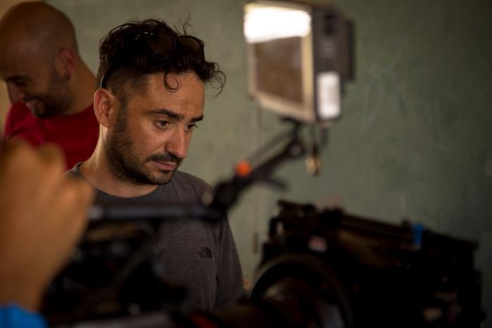 J.A. Bayona sul set del film Jurassic World - Il regno distrutto