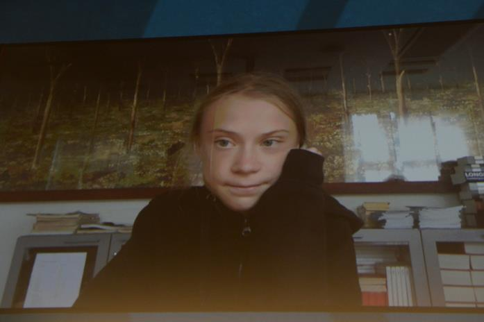 Greta Thunberg in diretta streaming