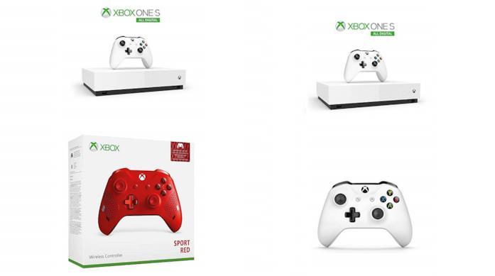 Xbox One S 1 TB - All Digital Edition Console + Secondo Controller Rosso o Bianco