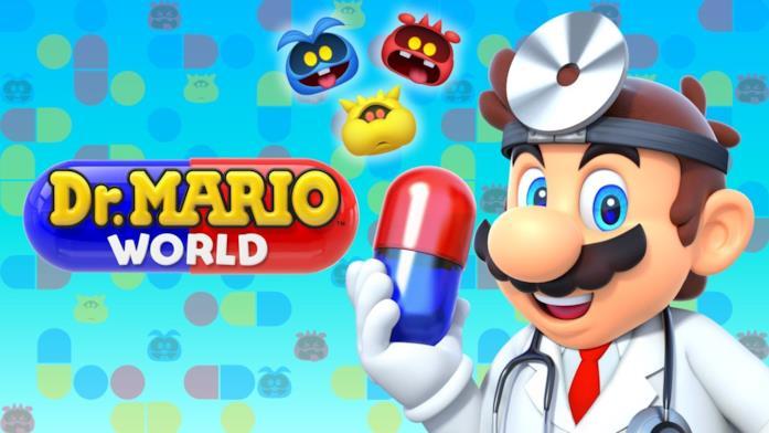 Mario veste i panni del dottore in Dr. Mario World