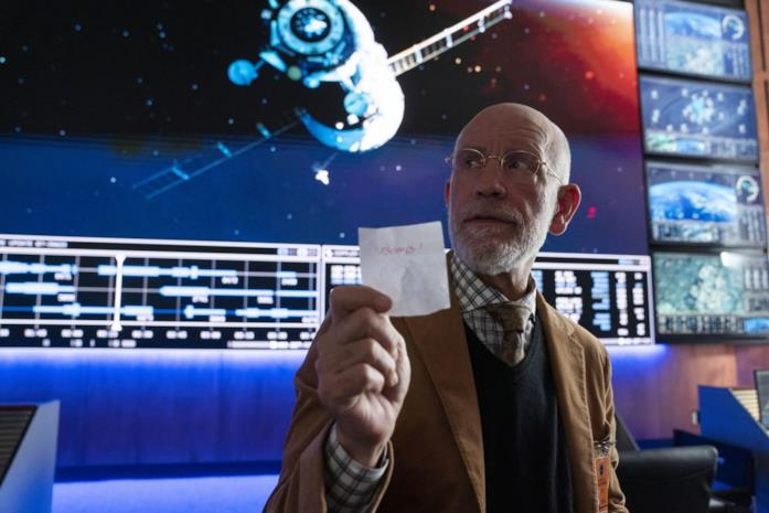 John Malkovich sul set di Space Force