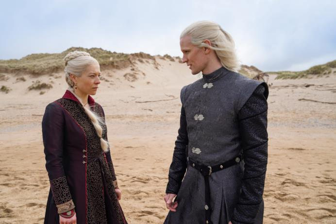 Emma D'Arcy e Matt Smith in House of the Dragon