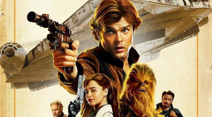 Un dettaglio del poster di Solo: a Star Wars Story