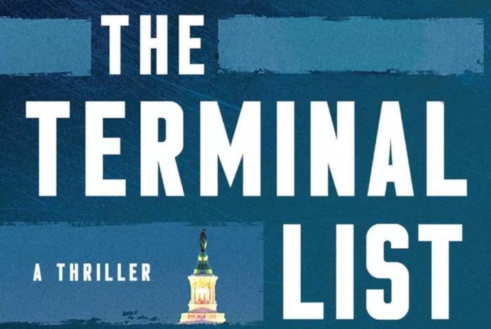 La cover blu con la scritta bianca del libro Terminal List
