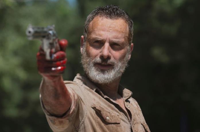 L'attore Andrew Lincoln nei panni di Rick in The Walking Dead