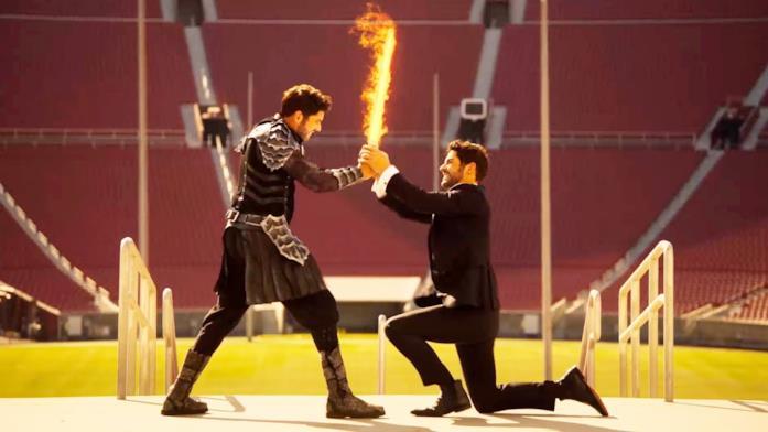 Lucifer combatte contro Michael nell'ultimo episodio di Lucifer 5
