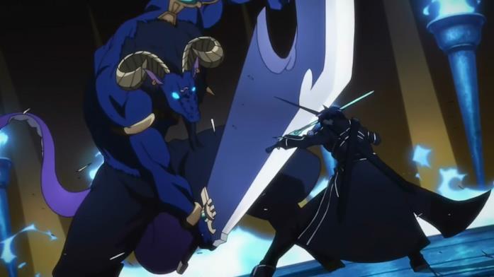 Kirito in battaglia