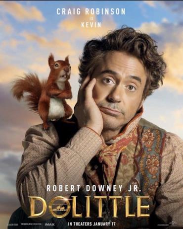 Il Dottor Dolittle con uno scoiattolo