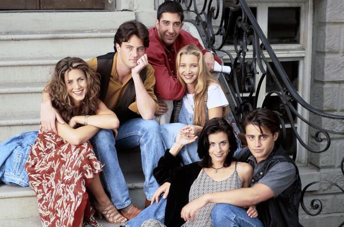 Il cast di Friends durante la prima stagione della serie