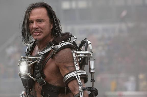 Un'immagine di Mickey Rourke in Iron Man 2
