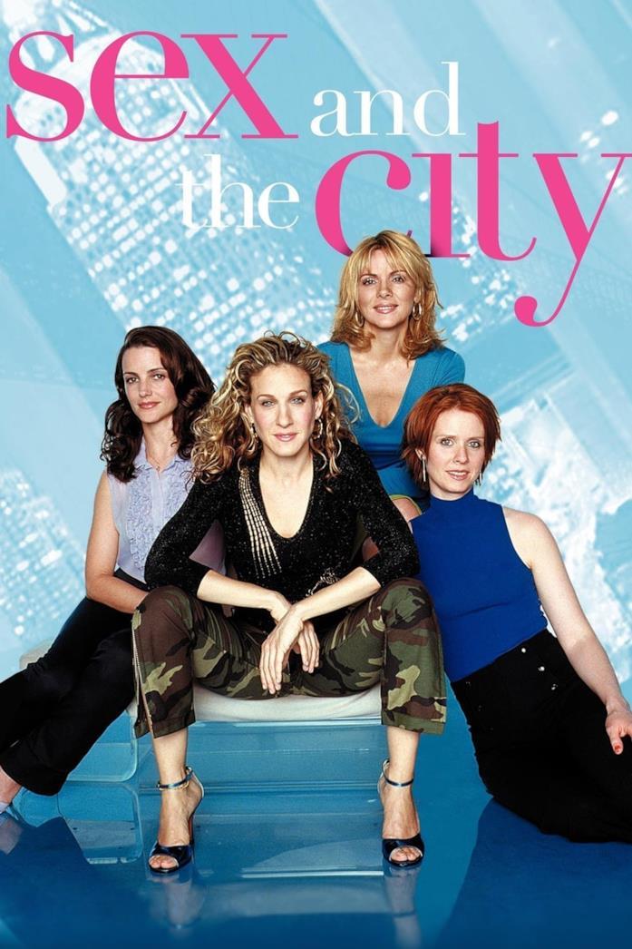 Il cast nella locandina di Sex and the City