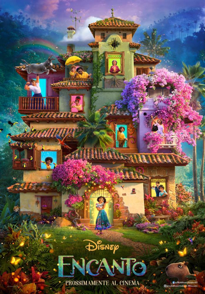 Il poster del film d'animazione Encanto