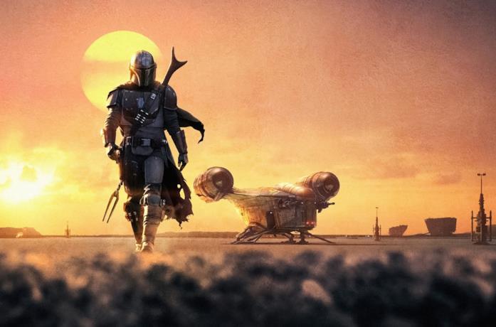 Un poster promozionale di The Mandalorian