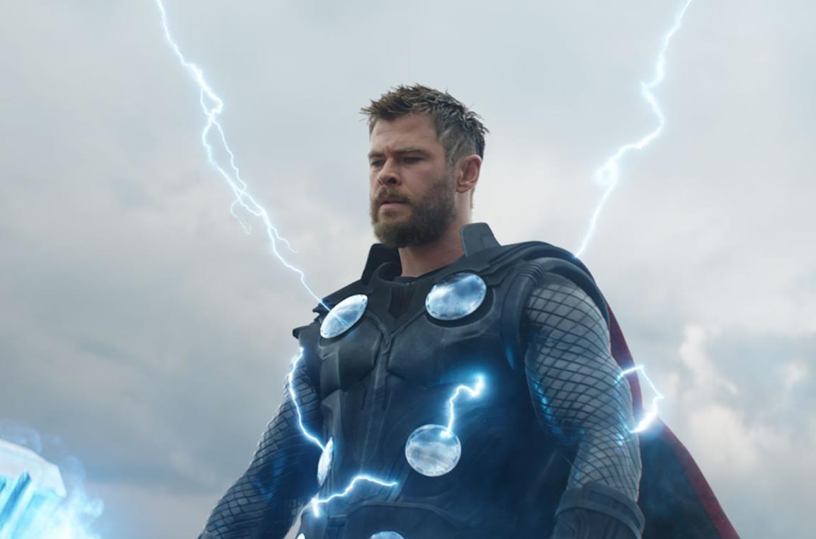 Chris Hemsworth è Thor in una scena di Avengers: Infinity War