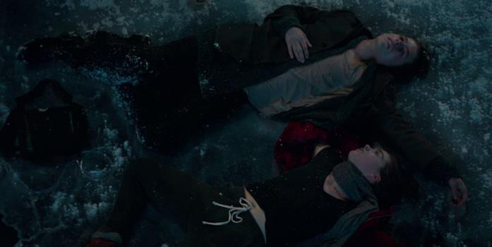 Will salva Stella tirandola fuori dall'acqua ghiacciata