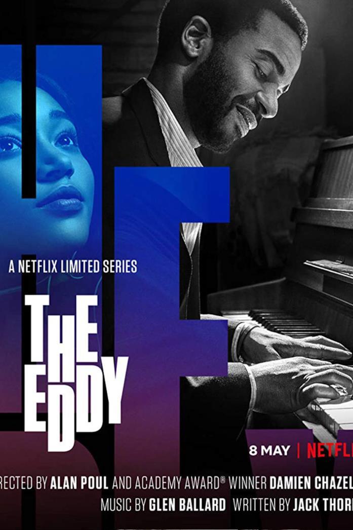 André Holland nel poster ufficiale di The Eddy