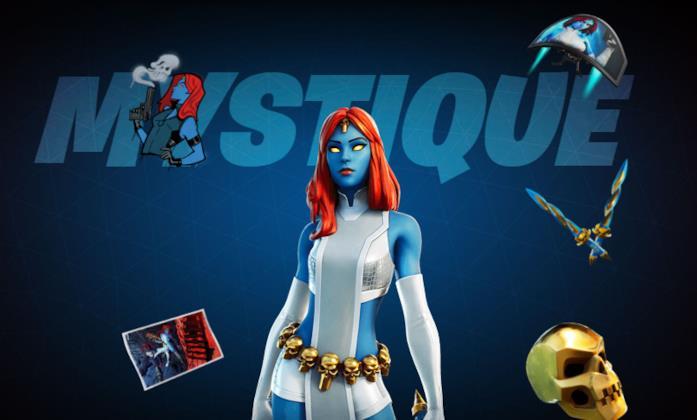 Immagine promozionale del costume di Mystique in Fortnite
