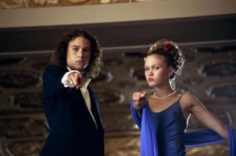 Heath Ledger e Julia Styles in 10 cose che odio di te