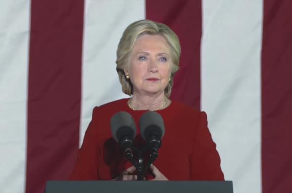 Hillary Clinton nella miniserie Hillary
