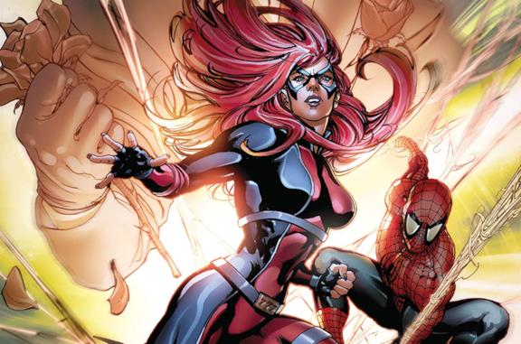 Dettaglio della cover di Spider-Man: Jackpot