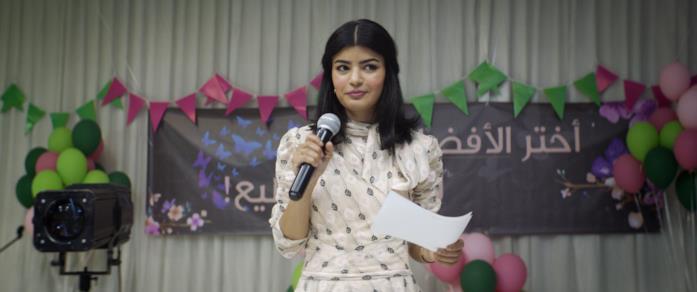 La protagonista di The Perfect Candidate canta in pubblico
