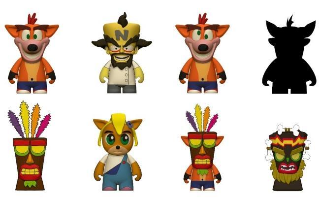 In foto tutte le mini figure di Crash Bandicoot