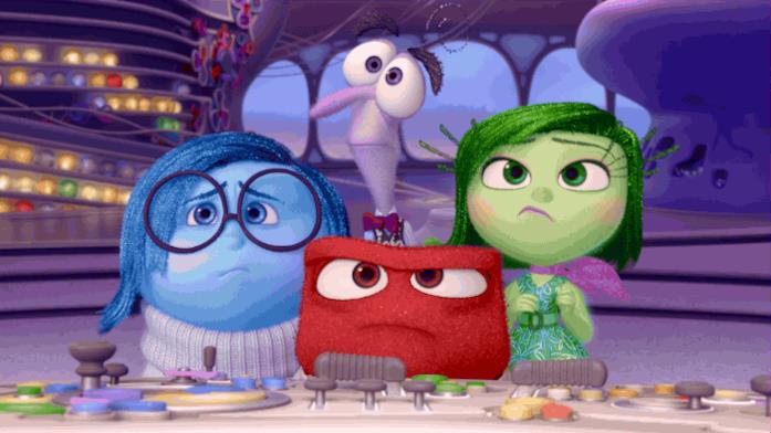 I personaggi di Inside Out spaventati