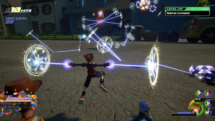 Sora combattimento Kingdom Hearts 3