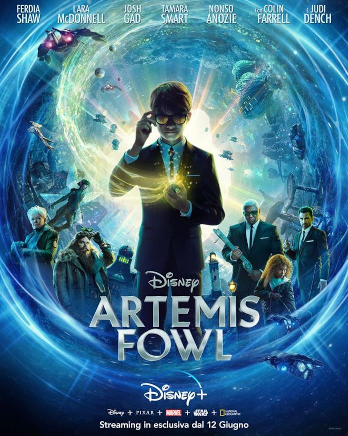 Il poster italiano per l'uscita di Artemis Fowl su Disney+