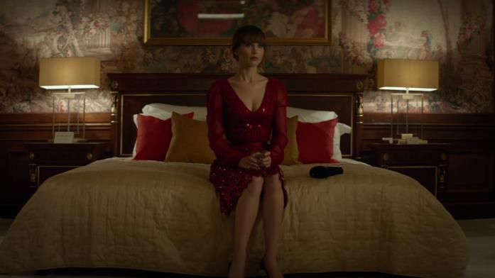 Jennifer Lawrence nei panni della protagonista di Red Sparrow