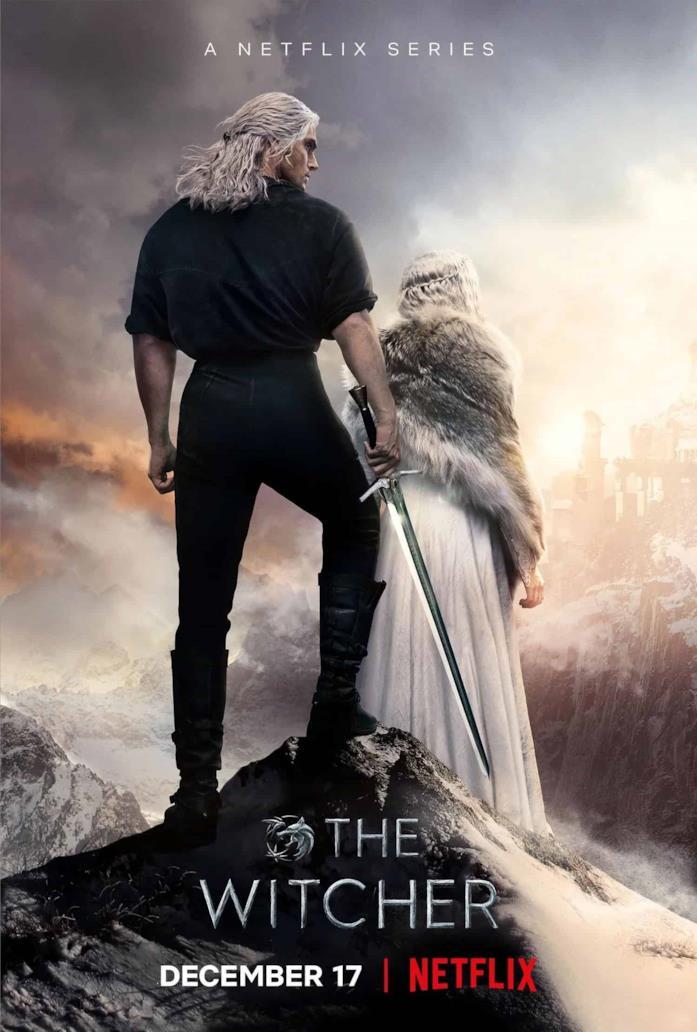 Geralt e Ciri nel poster della seconda stagione di The Witcher