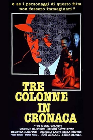 Poster Tre colonne in cronaca