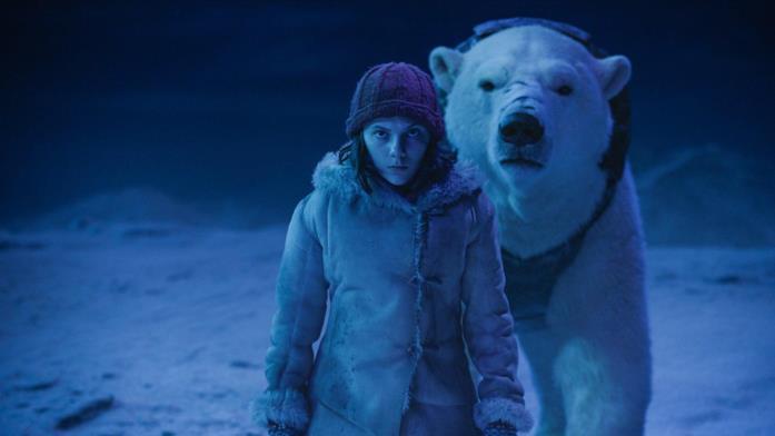 Lyra e Iorek in una scena del finale della prima stagione di Queste oscure materie