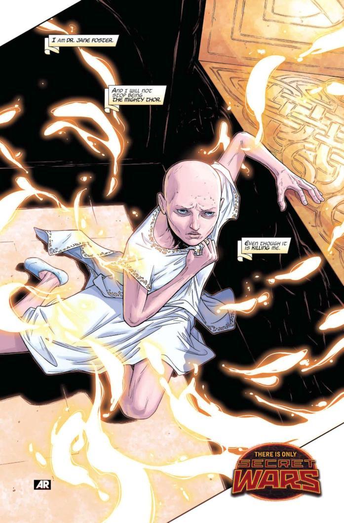 Jane Foster in una tavola del fumetto The Mighty Thor