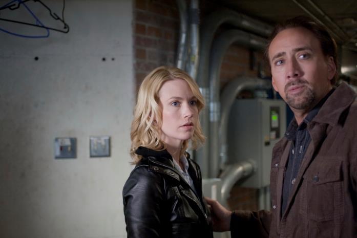 January Jones e Nicolas Cage in una scena del film Solo per vendetta