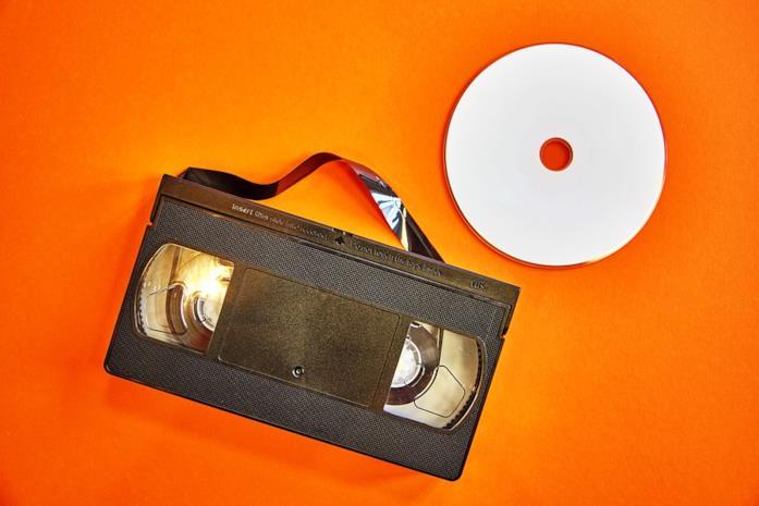 Una videocassetta VHS