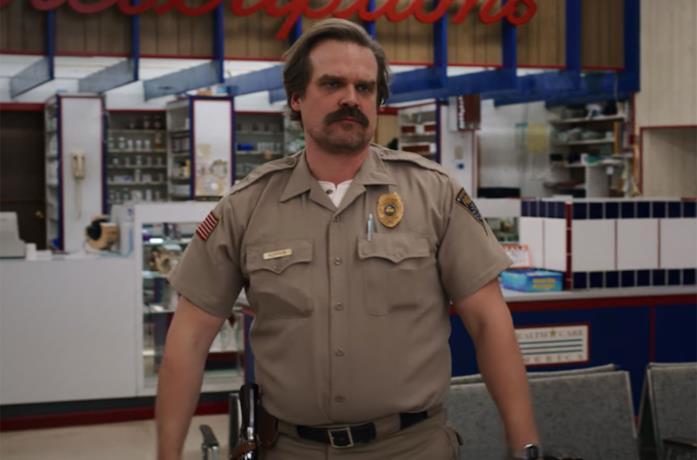 Lo sceriffo Hopper in Stranger Things 3