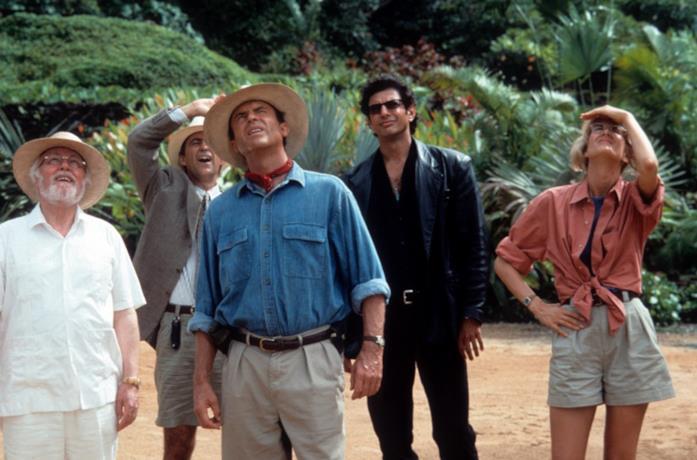 Jurassic Park: una scena del film