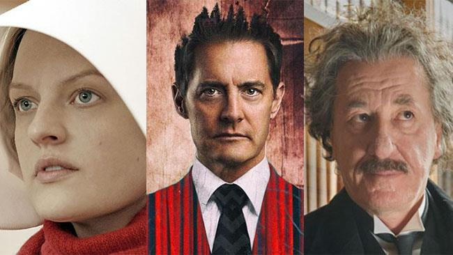 I volti dei protagonisti di The Handmaid's Tale, Twin Peaks e Genius