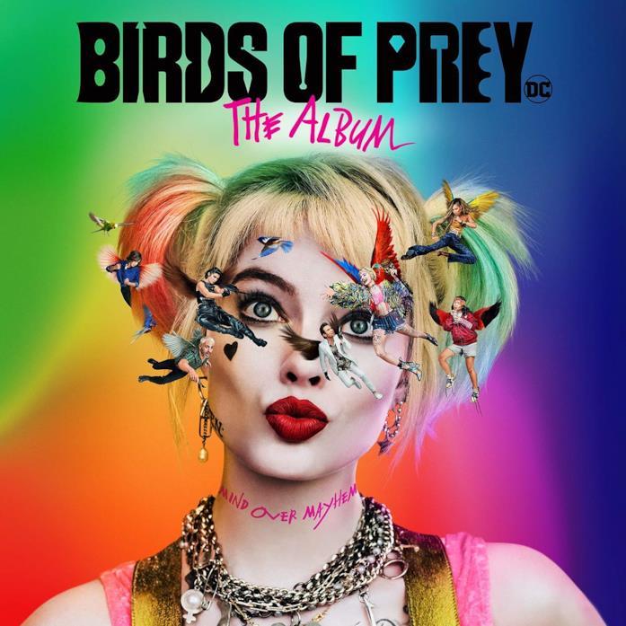 Harley Quinn nella cover del CD della colonna sonora del film Birds of Prey