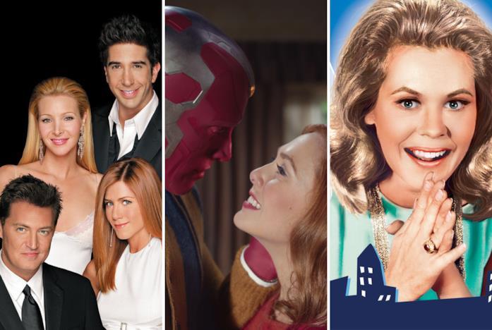 I protagonisti di Friends, WandaVision e Vita da Strega