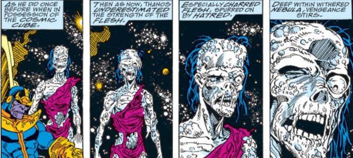 Nebula viene torturata da Thanos