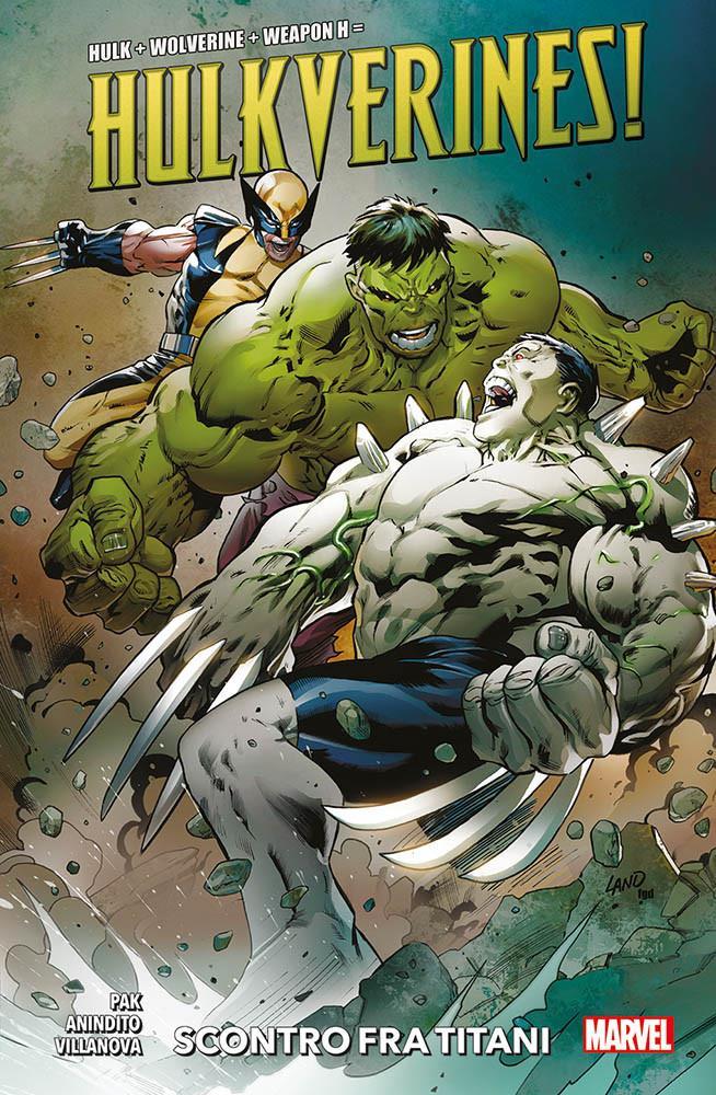 Hulk e Wolverine combattono contro Weapon H