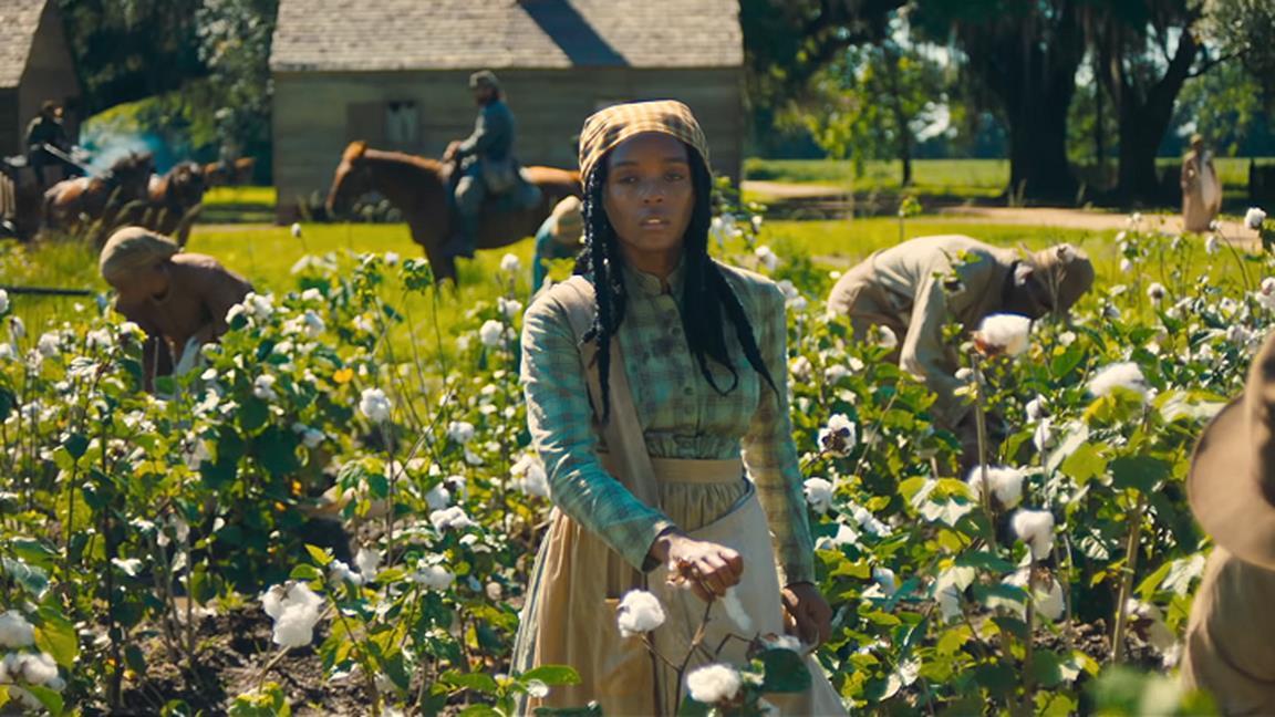 Janelle Monáe da autrice a schiava nel trailer del thriller Antebellum